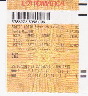 Vincite Lotto Del 25 ottobre