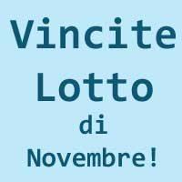 Vincite Lotto Di Novembre