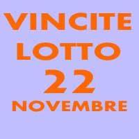 Givovedì 22 Novembre Vincite Lotto